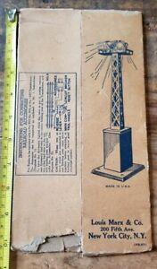 1930s Louis Marx & Co. Train Accessory Floodlight Spotlight (FB-57) BOX ONLY