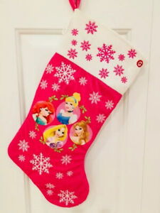 20In Disney Princess Cinderella Aurora Belle Ariel Musical Christmas  Stocking