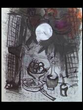 CHAGALL, NATURE MORTE BRUNE - 1957 - LITHOGRAPHIE ORIGINALE, MAEGHT