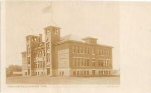 H70/ Caledonia Minnesota RPPC Postcard c1910 High School Building  103