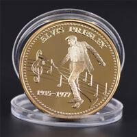 Elvis Presley 1935-1977 Der König von N Rock Roll Gold Art  Gedenkmünze