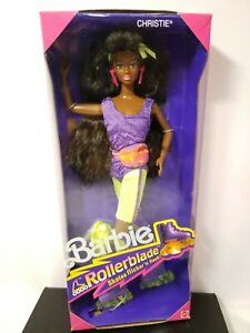 ROLLERBLADE CHRISTIE BARBIE DOLL 1991 MATTEL 2217 NRFB
