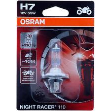 H7 OSRAM Night Racer +110 max. Performance Halogen Scheinwerfer Lampe Moto NEU