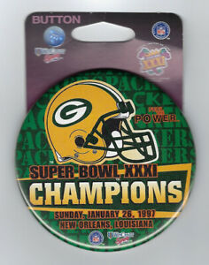 1997 Green Bay Packers Super Bowl XXXI Champions button SB 31 Desmond Howard MVP
