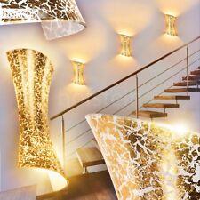 Aplique de cristal dorado pasillo salón comedor entrada dormitorio rizado