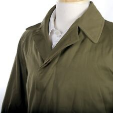 Vintage 1950 Mens MILITARY RAIN COAT by CROYDON Canada in Pickle Green ~ XS