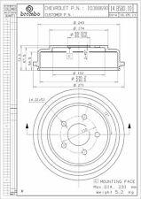Brembo 14.B580.10 Rear Brake Drum