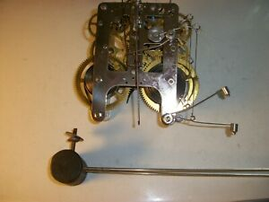 WM L Gilbert 18- Clock Movement Made in USA - Time & Strike - Two Hammer