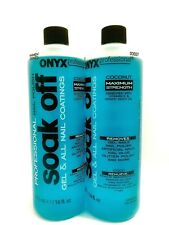NEW Onyx Profesional Nail Remover Maximun strength100% Pure Acetone 16OZ and 4OZ