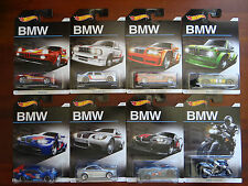 Hot Wheels 2016 BMW Series Full Set of 8 - M1, M3, 2002, Z4, GT2, K1300 R (A+/A)