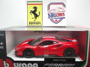 1/24 Ferrari 488 Pista 2018 Bburago Collection Race & Play (no Hachette)