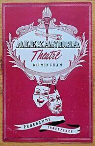 The Sleeping Prince programme Birmingham Alexandra Theatre 1955 Erica Yorke