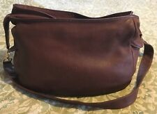 BALLY Lambskin Brown Leather Large Messenger Hip Bag Purse-AMAZING!