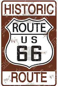 Route 66 Historic US metal sign 300mm x 200mm (sf)