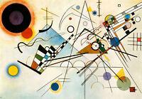 Kandinsky #33 cm 35x50 cm Stampa su Carta Fotografica Opaca Matt, Papi Arte