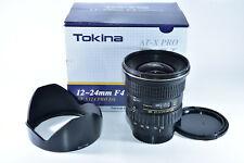 Tokina 12-24mm AT-X Pro DX SD AF Lens for Nikon w/Box D7000-7500 D300 D500