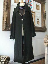 Ladies Long Brown bobble wool coat size 18 by Monsoon