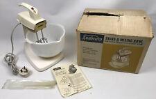 Sunbeam Mixmaster Junior Food Mixer Beaters Bowl Vintage Retro 1960s Working