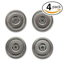 Strong Round Base Neodymium Pot Magnets - Bulk Pack of 4 - 70+ LB Strength