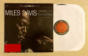 MILES DAVIS: Kind Of Blue LP Columbia CS 8163 stereo 6 eye
