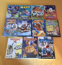 DVD BUNDLE 'U' The Reef Smurfs Yogi Bear Tom & Jerry Open Season Despicable Me