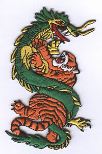 Lot of 3 -Dragon & TigerPatches New Size 4 3/4""