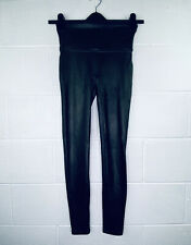 Spanx Women's Medium Faux Leather Leggings Black Pull On 2437 High Waist NWT D22