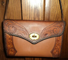 Vintage Clifton's Hand Tooled Leather Western Purse Medium Size