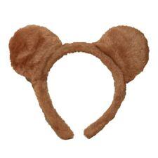 Brown Morbido Peloso Teddy Bear Orecchie Fascia Per Capelli Cerchietto Alice Costume Festa Gallina