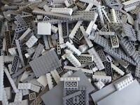 LEGO 100 Teile GRAU Steine Platten Sondersteine, Sammlung Konvolut Bauteile kg