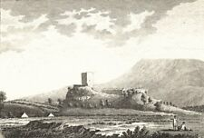 LANCASHIRE.. Clithero Castle, Lancashire . Copperplate (Grose) 1795 old print