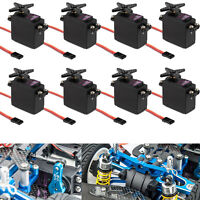 8PCS MG995 Metal Gear Servo High Torque For Futaba JR RC Helicopter Car MG996R