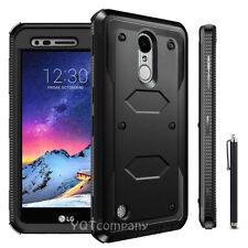 For LG Phoenix 3 / K4 2017 / LG Risio 2 Phone Case Hybrid Shockproof Hard Cover