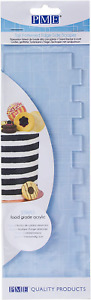 PME Stripe Patterned Side Scraper for Cake Decorating-10 inches, Transparent