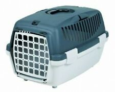 Trixie Transport Pet Carrier Capri 1 Cat / Kitten/Dog/Puppy Dk Grey/ Light Grey