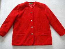 Griaß Di Trachtenmode Aus österreich Wool Ladies Folk Jacket Blazer Jacke Red XL