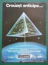 6/1985 PUB CROUZET AEROSPATIAL NAVIGATION VALENCE NADIR OMEGA EQUINOX MAD ASM AD