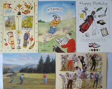 GOLF GIFT - HAPPY BIRTHDAY GREETING CARDS 10 PACK -SALE