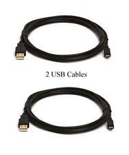 Two 2 USB Cables for Canon A2000IS S5IS S30 A2100IS D10 WP E1 SX40 HS 5D Mark II