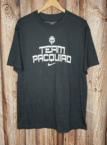 RARE Nike Team Manny Pacquiao Just Do It T-Shirt Black Size Men's Large