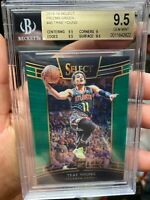 ~SELECT PRIZM GREEN PRINT /5 BGS 9.5 MUSEUM PIECE RC TRAE YOUNG 2018 NOT PSA