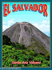 El Salvador Santa Ana Volcano Central Latin America Travel Advertisement Poster