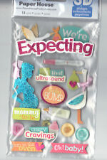 Paper House WE'RE EXPECTING (13) 3-D Layered Stickers scrapbooking CRAVINGS BABY