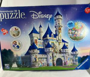 Disney Castle Ravensburger 3D Jigsaw Puzzle 125876 Limited Edition 216 pieces