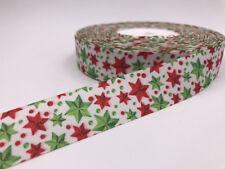 5 Yard 1'' star Pattern Printed Grosgrain Ribbon Hair Bow Sewing Clothing Ribbon