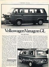 1986 Volkswagen Vanagon Camper Original Car Review Report Print Article J776