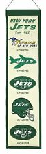 "New York Jets Embroidered Wool Heritage 32"" Banner Pennant"