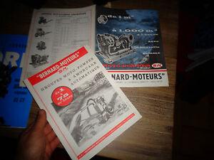 Ancien Documents Groupe Moto-Pompes Bernard Moteur