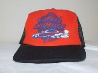 Speed Unlimited Maryland Drag Racing Vintage Snapback Trucker Hat Made in USA