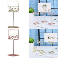 Decoration Love Shape Photos Clips Clamps Stand Place Card Table Numbers Holder